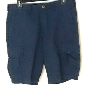 Gap Blue Linen Cargo Shorts